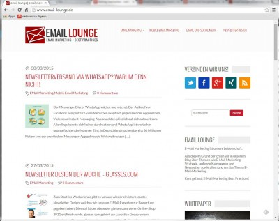 emaillounge - blog für email marketing
