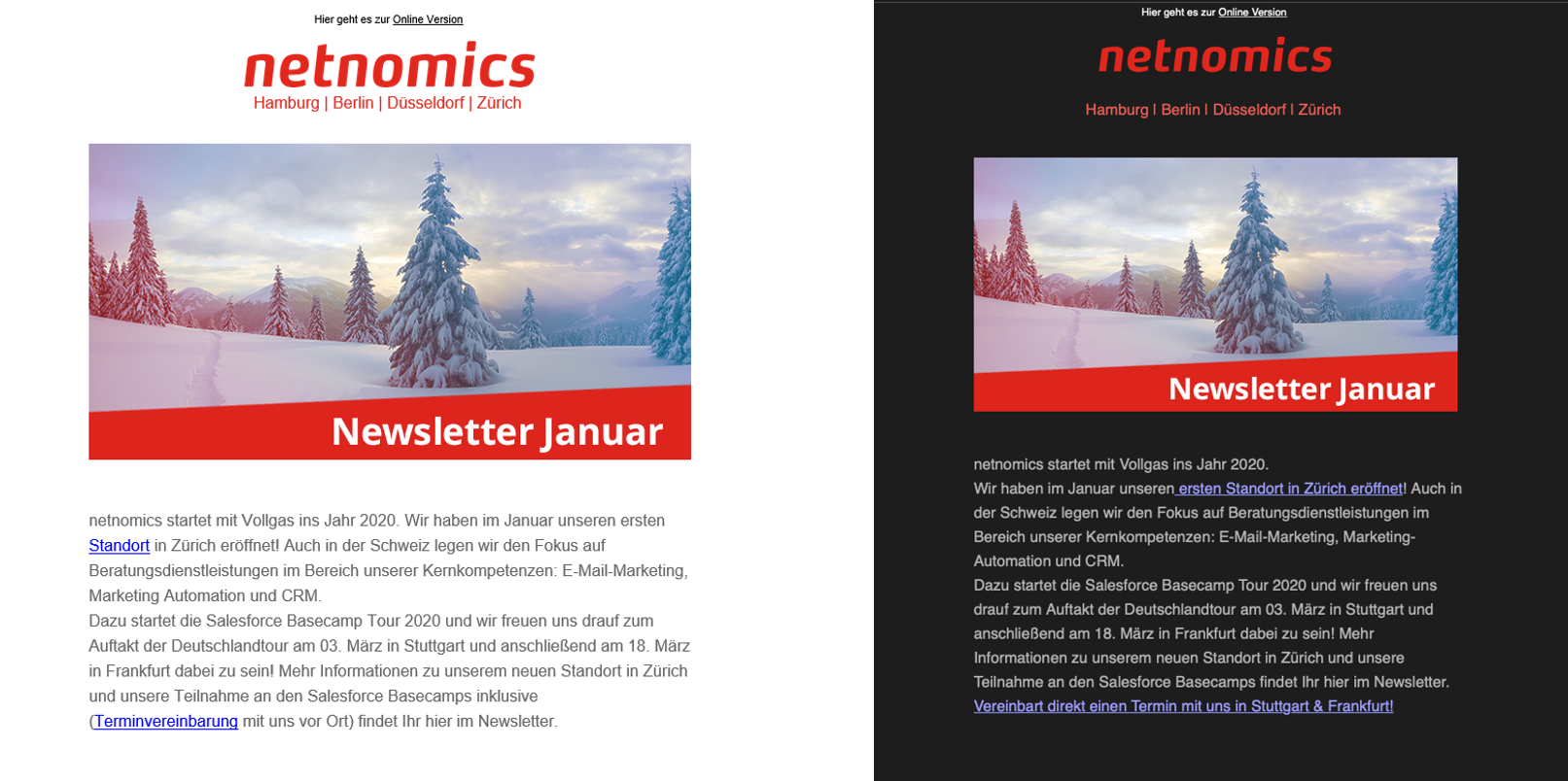 netnomics Newsletter Dark Mode vs. Light Mode