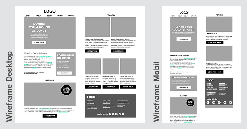 Template Wireframe